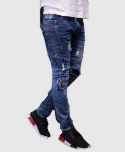 Men Ribbed Skinny Fit Side Ridges Distressed Ripped Motor Biker Jeans · Add  to Wishlist loading 7d16b1ba62