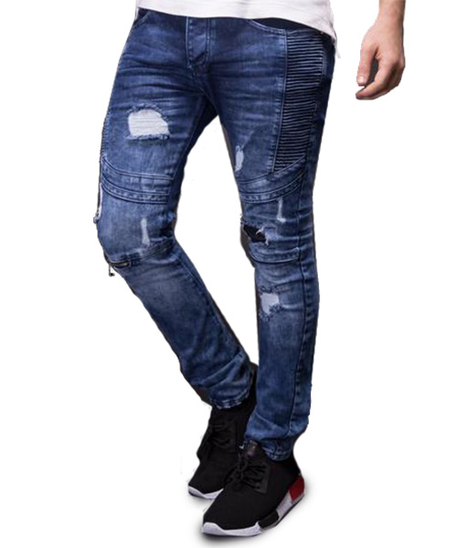 Bardzo dobra Men Slim Fit Distressed Jeans #MJ2 – Online Shopping in Pakistan AQ24