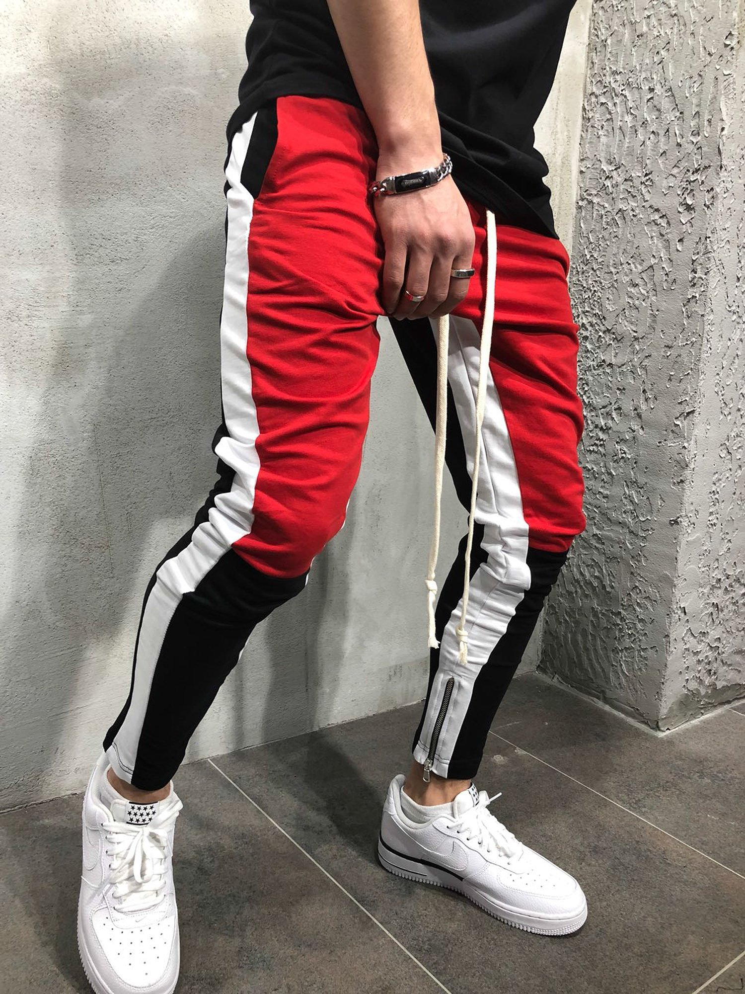 Men Slim Fit Casual Tricolor Sweatpants  MST9 – Online Shopping in ... 84afae3332