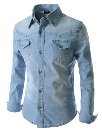 Denim Washed Shirt  MDS4Sky – Online Shopping in Pakistan  Fashion   Cash  on Delivery  mYar.pk 4fe922656d